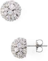 Nadri - Mare Pavé Ball Earrings - Lyst