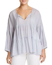 Lucky Brand - Tiered Peasant Top - Lyst