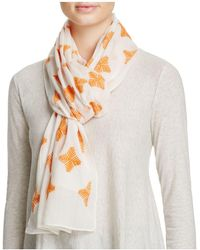 Aqua - All Over Embroidered Scarf - Lyst