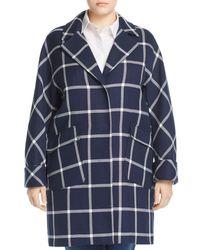 Marina Rinaldi - Plus Size Targa Windowpane Coat - Lyst 537debb957f