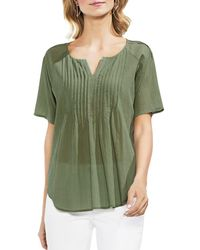 Vince Camuto - Crinkled Pintuck Top - Lyst