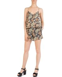The Kooples - Wanted Floral Romper - Lyst