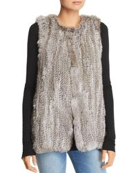 525 America - Rabbit Fur Long Vest - Lyst