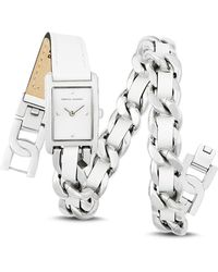 Rebecca Minkoff - Moment Leather & Chain Wrap Watch - Lyst