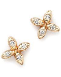 Dana Rebecca - 14k Rose Gold Sophia Ryan X Stud Earrings With Diamonds - Lyst