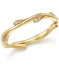 Bloomingdale's - Diamond Stacking Ring In 14k Yellow Gold, .10 Ct. T.w. - Lyst