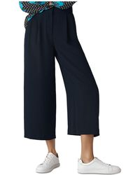Whistles - Cropped Wide-leg Pants - Lyst