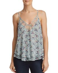 Aqua - Tiered Floral Print Camisole - Lyst