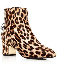 Tory Burch - Laila Leopard Print Calf Hair Booties - Lyst
