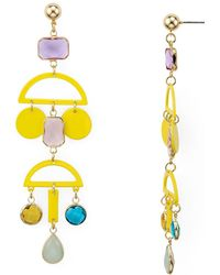 Aqua - Geometric Metal Earrings - Lyst