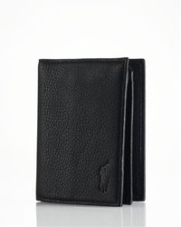 Ralph Lauren - Polo Pebbled Leather Window Billfold Wallet - Lyst