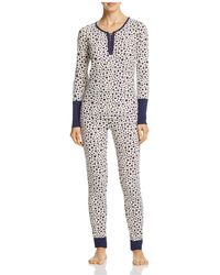 Splendid - Intimates Printed Thermal Pajama Set - Lyst