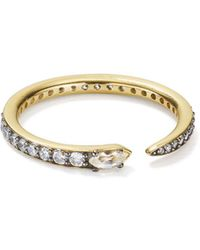 Nadri - Sterling Villa Pavé Spike Ring In 18k Gold-plated Sterling Silver - Lyst