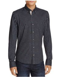 W.r.k. - Textured Check Long Sleeve Regular Fit Button-down Shirt - Lyst