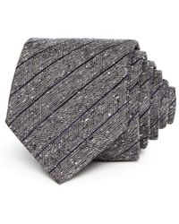 John Varvatos - Herringbone Paneled Silk Classic Tie - Lyst