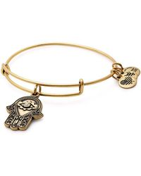 ALEX AND ANI - Hand Of Fatima Adjustable Wire Bangle (nordstrom Exclusive) - Lyst