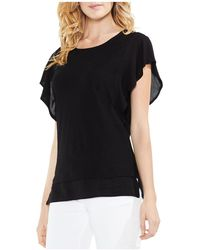 Vince Camuto - Mixed-media Top - Lyst