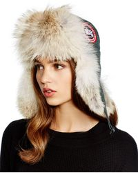 Canada Goose - Fur-Lined Aviator Hat - Lyst