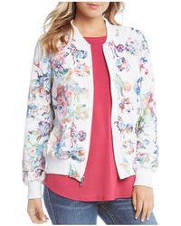 Karen Kane - Floral Embroidered Bomber Jacket - Lyst