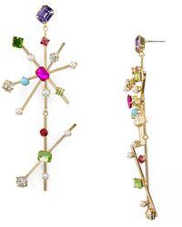 R.j. Graziano - Double Starburst Drop Earrings - Lyst