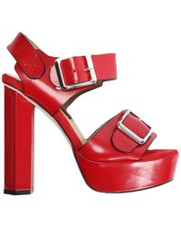 Chrissie Morris - Ida Red Suede Crystal Calf - Lyst