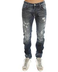 Balmain - Ribbed Denim Moto Jeans - Lyst