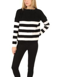ATM - Chenille Boat Neck Sweater - Lyst