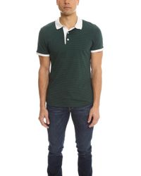 Shipley & Halmos - Broome Polo In Green Navy Stripe - Lyst