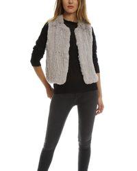 H Brand - Celine Rabbit Fur Vest - Lyst