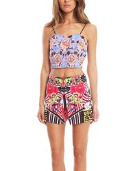 Clover Canyon - Floral Maze Crop Top - Lyst