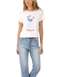 RE/DONE - Keep On Marchin' Tee - Lyst