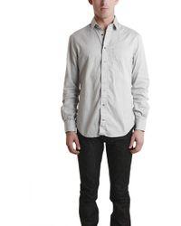 Blue & Cream - Grey Pinpoint Shirt - Lyst
