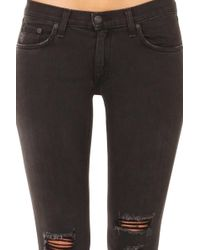 Rag & Bone /jean Skinny Denim Jeans - Black