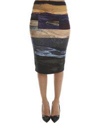 McQ Colour Block Skirt - Multicolour