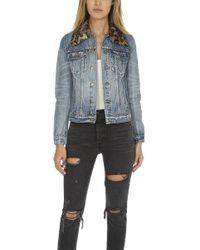 Pam & Gela - Denim Jacket With Detachable Fur - Lyst