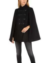 Balmain - Embellished Military Cape - Lyst