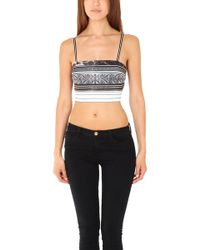 Clover Canyon - Etched Marble Crop Top - Lyst