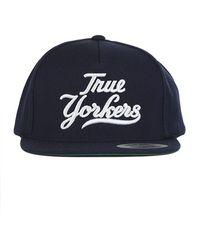Blue & Cream - True Yorker Snapback Navy/white Yankee Letters - Lyst