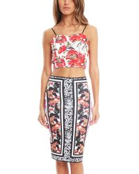 Clover Canyon - Frederick Print Crop Top - Lyst