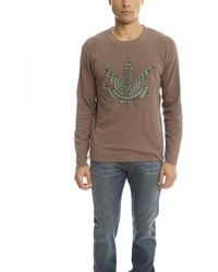 Lucien Pellat Finet - Embroidered Leaf Tee - Lyst