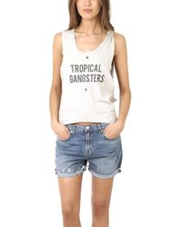 Via Spare - Silk Noil Tropical Gangsters Tank - Lyst
