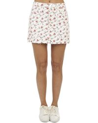 RE/DONE - The Rose Print Cargo Mini Skirt - Lyst