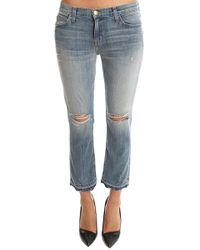 Current/Elliott - Cropped Straight Jean - Lyst