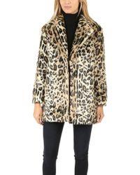 FRAME - Frame Cheetah Faux Fur Coat - Lyst