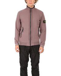 Stone Island - Zip Up Sweatshirt - Lyst
