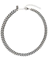 Electric Picks - Straight Edge Choker - Silver - Lyst