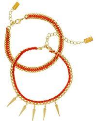 Chan Luu   Orange Friendship Bracelet   Lyst
