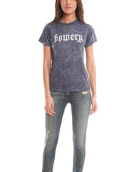 Blue & Cream - Bowery Burnout Tee - Lyst