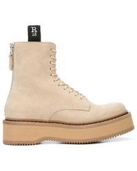 R13 - Suede Single Stack Boot - Lyst