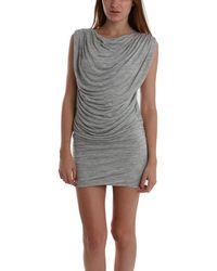 Wayne - Ruched Dress In Grey - Lyst
